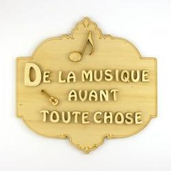 """Plaque """"De la musique avant toute chose"""""""