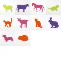 Pack de 10 animaux familiers en feutrine