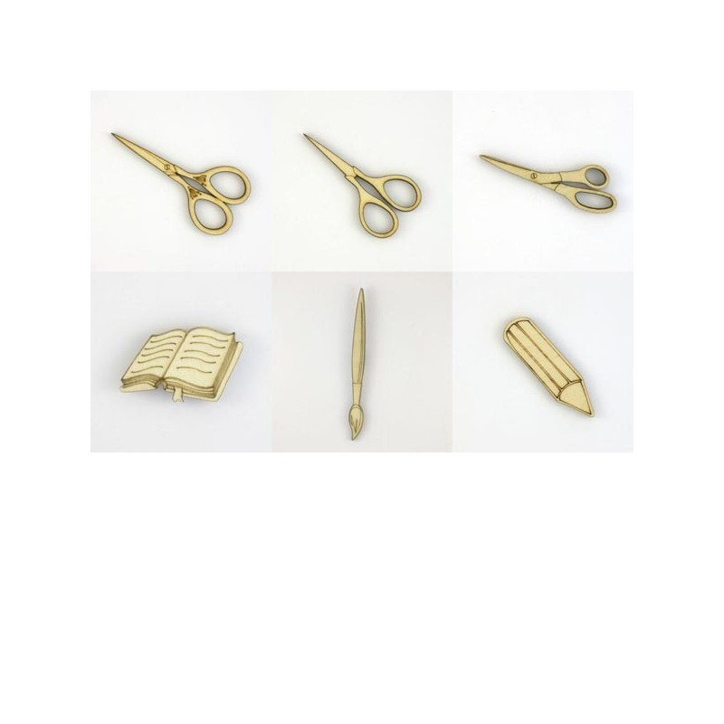 Pack de 6 objets d'écolier