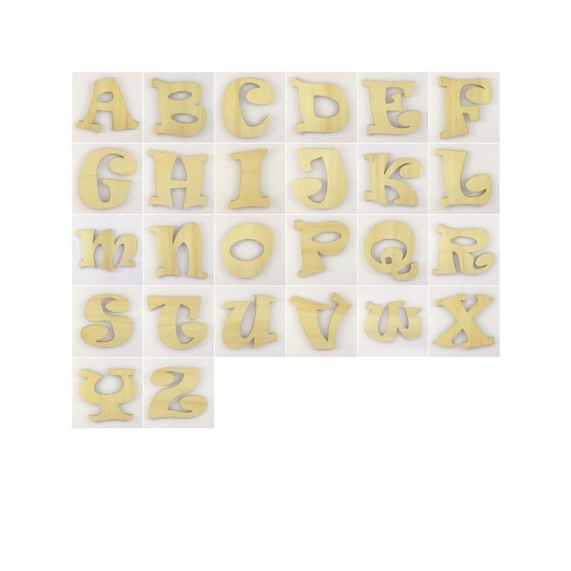 lot de 80 lettres alphabet ravie en bois peindre ou pas. Black Bedroom Furniture Sets. Home Design Ideas