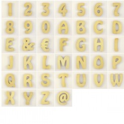 "Lot de 80 lettres alphabet ""hobo"""