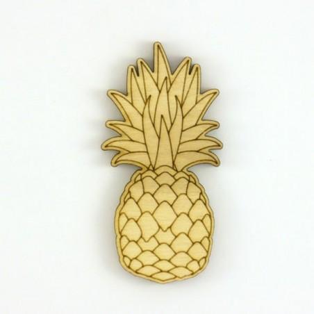 Ananas, décoration bois pour scrapbooking, loisirs créatifs, art décoratif