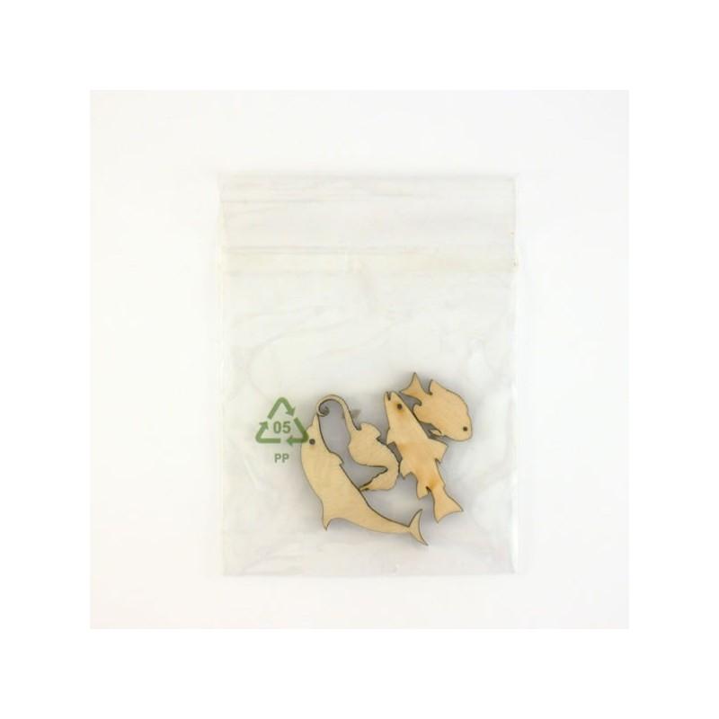 Pack de 4  poissons minuscules, contenu surprise