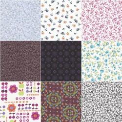 Tissu coton motif fleurs 30 x 70 cm