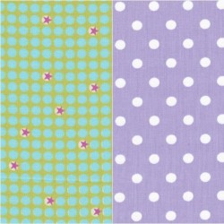 Tissu coton à pois 30 x 35 cm