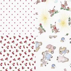 Coupon tissu piqué de coton 100 % coton 30 x 35 cm