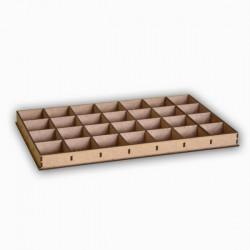 Boîte de rangement 28 cases en bois