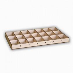 Boîte de rangement 21 cases en bois