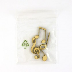 Pack de 4 notes de musique minuscules, contenu surprise