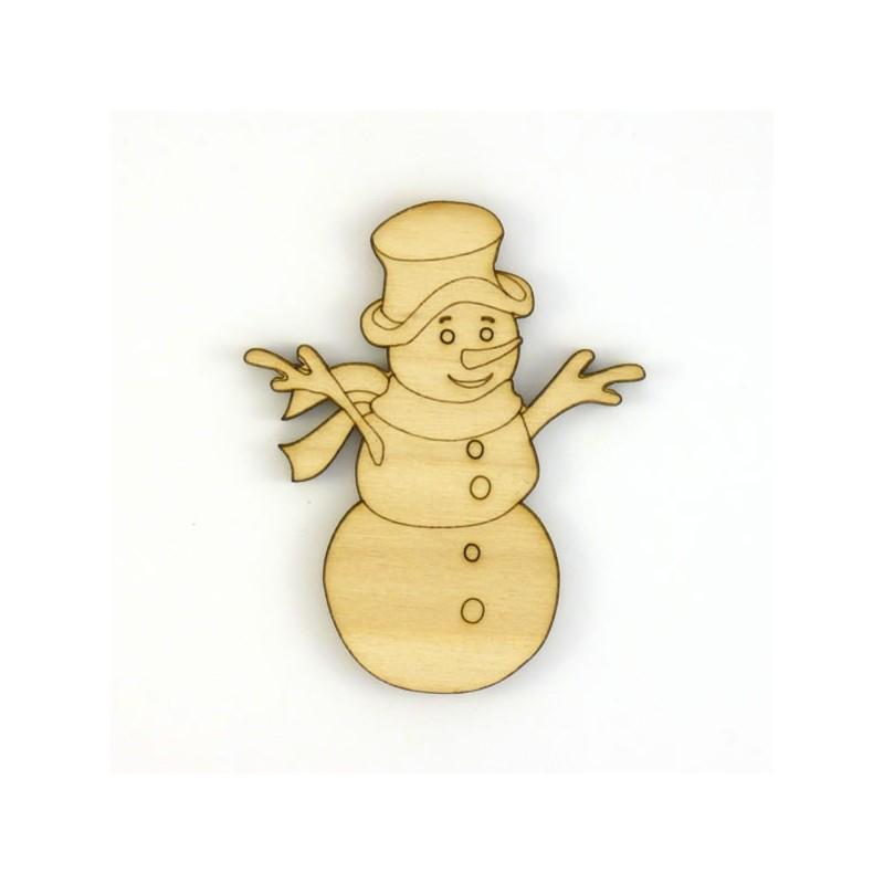 Scrapbooking bonhomme de neige en bois - Bonhomme de neige en bois ...