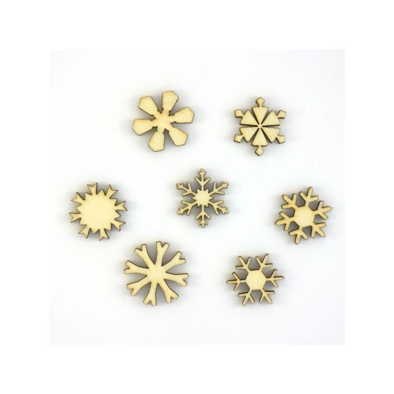 Pack n°1 - 5 cristaux de Noël 40 mm
