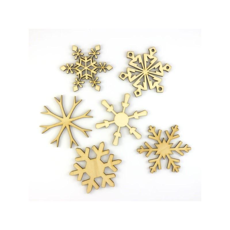 Pack n°5 de 5 cristaux de Noël