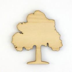 Pack 6 arbres silhouettes en bois