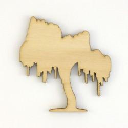 Pack 4 arbres silhouettes en bois
