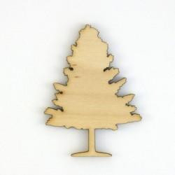 Arbre branche nu en bois découpé