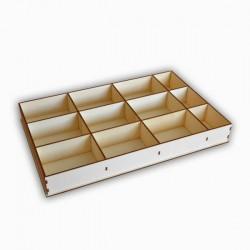 Boîte de rangement 12 cases en bois