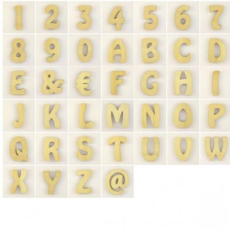 "Lot de 56 lettres alphabet ""hobo"""