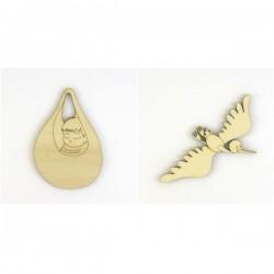 Pack cigogne et bébé pour naissance