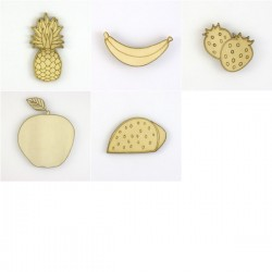 Pack de 5 fruits N°1, ananas, pastèque, banane, pomme, fraises