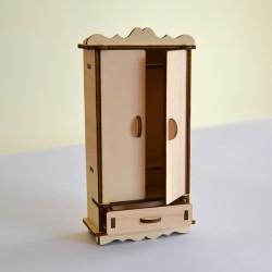 Armoire miniature 3D en bois
