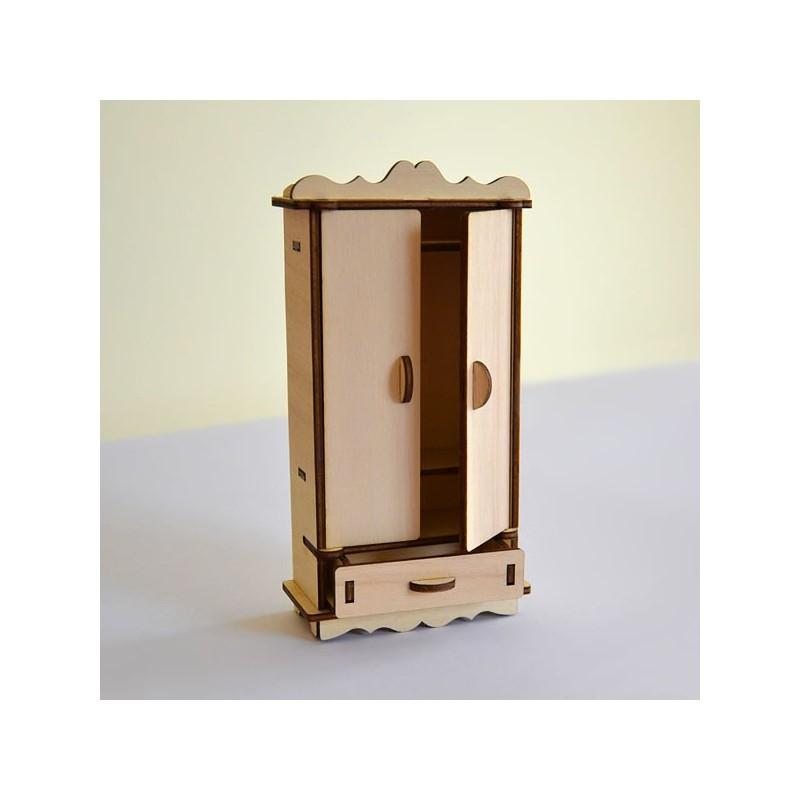 Armoire miniature monter en bois pour d coration ou for Monter sa maison en bois