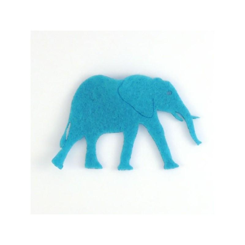 Eléphant-2 en feutrine couleur au choix