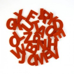 Lot de 3 alphabets complets en feutrine