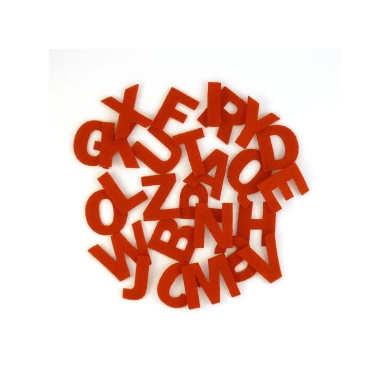 Lettres en feutrine, alphabet complet