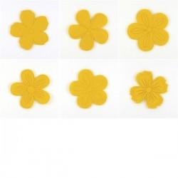 Pack de fleurs en feutrine