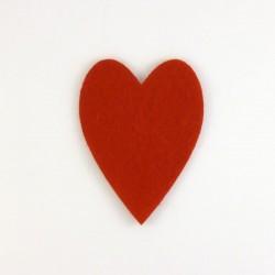 Coeur n°2 en feutrine - coloris au choix