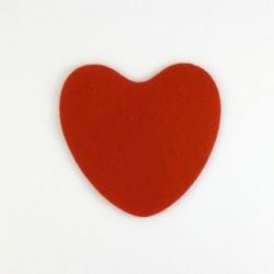 Coeur n°3 en feutrine - coloris au choix