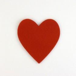 Coeur en feutirne - coloris au choix