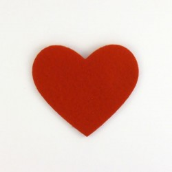 Coeur n°4 en feutrine - coloris au choix