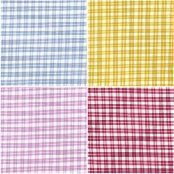 Coupon tissu coton Faux Vichy 55 x 50 cm