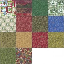 Coupon tissu coton Noël 55 x 50 cm
