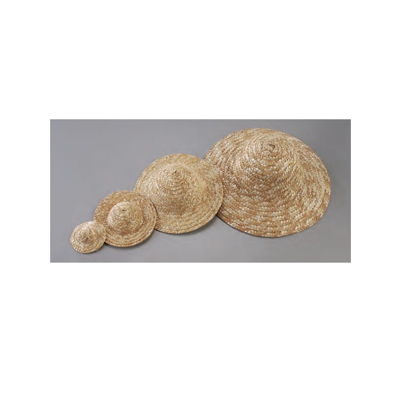 Chapeau de paille miniature diam tre 6 5 cm loisirs cr atifs - Deco chapeau de paille ...