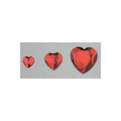 Cabochon en forme de coeur, facetté, acrylique