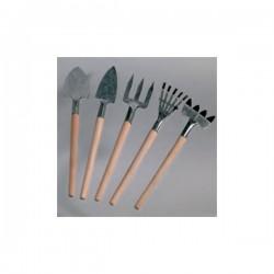 Outils de jardinage, bois / métal, miniatures, 15 cm