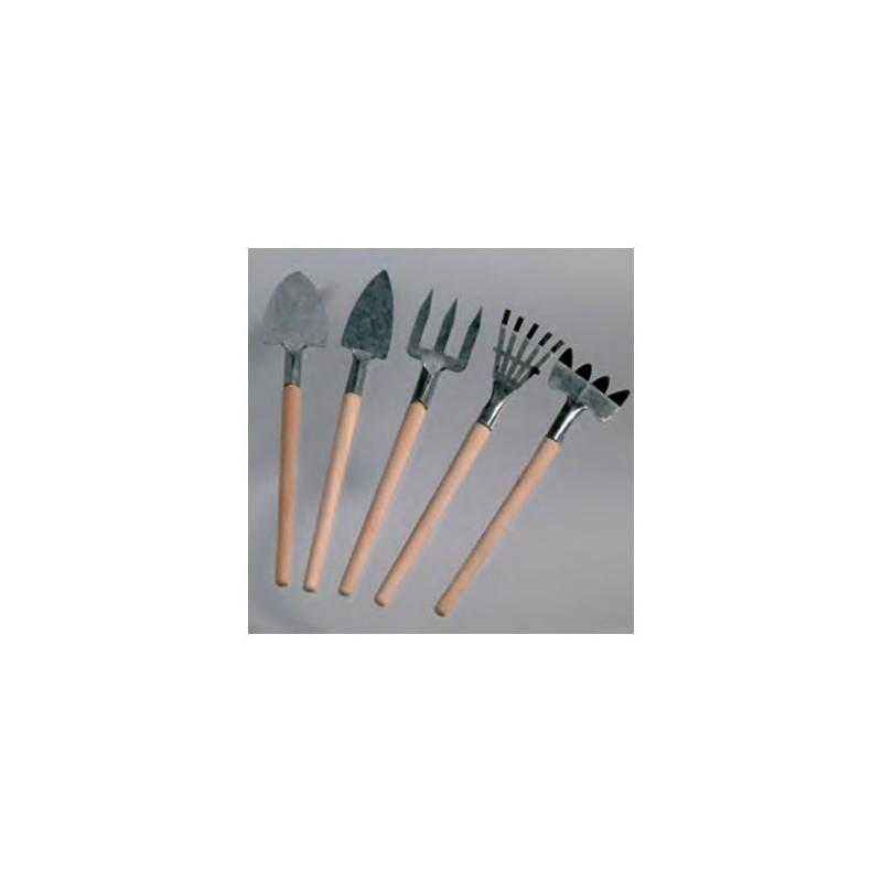 Loisir créatif - Outils de jardinage miniatures, 15 cm, bois et métal