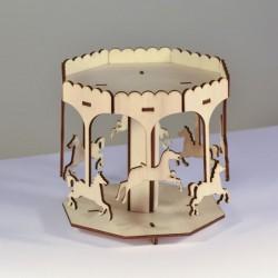 Manège miniature 3D en bois à monter