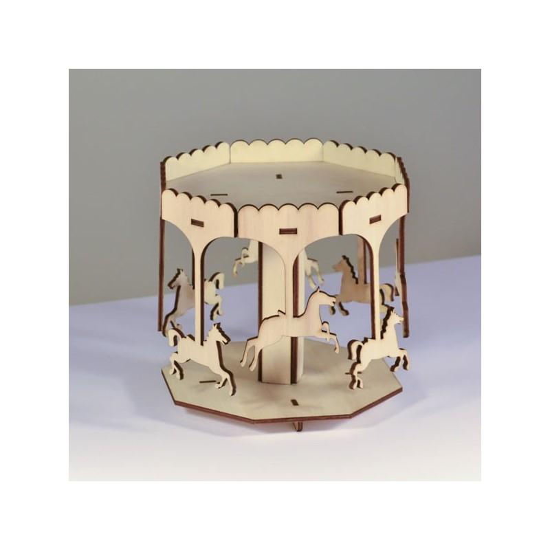 Manège 3D en bois à monter