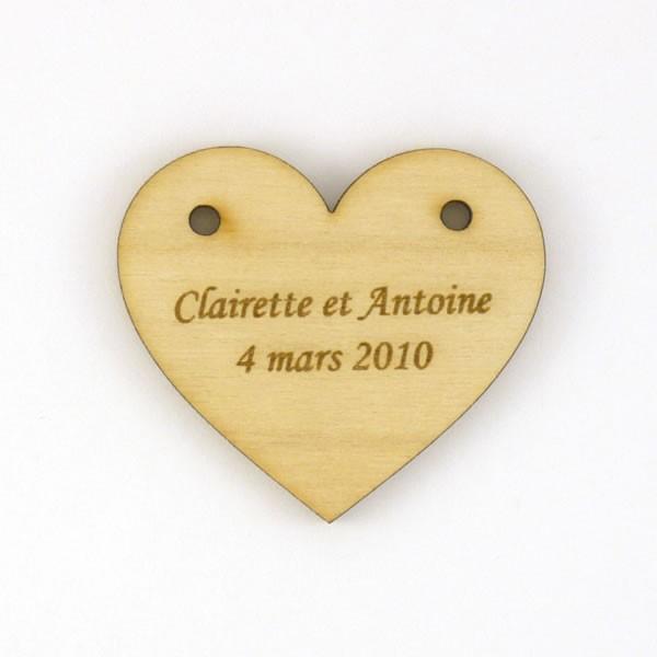 Étiquettes-cadeaux avec étoile cœur ou Papillons Découpes en bois contreplaqué