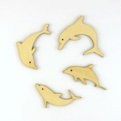 Pack de 4 dauphins en bois