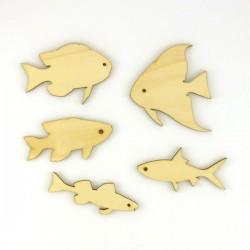 Pack de 5 poisson en bois