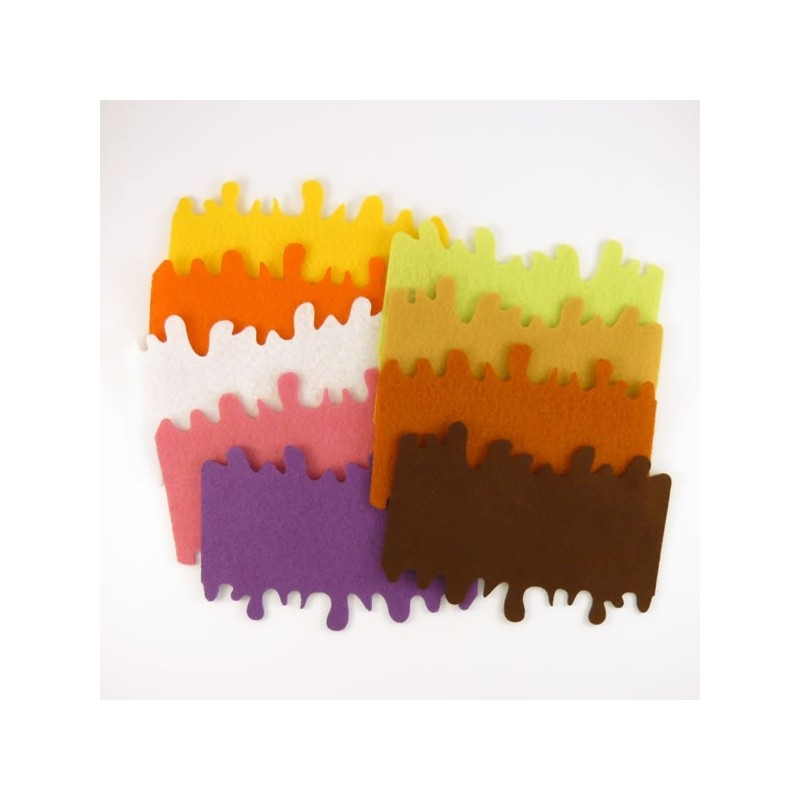 3 nappages coulis rectangulaire pour gateau ou buche de no l feutrine feutrine et coloris au. Black Bedroom Furniture Sets. Home Design Ideas
