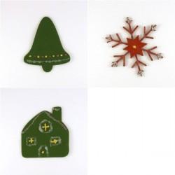 Pack 3 sujets de Noël en feutrine décorée