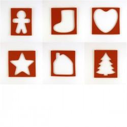 Pack 6 emporte-pièces de Noël
