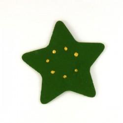 Etoile en feutrine verte -peinture dorée