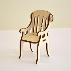 Fauteuil 3D miniature en bois