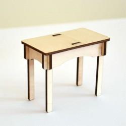 Petite table miniature 3D en bois